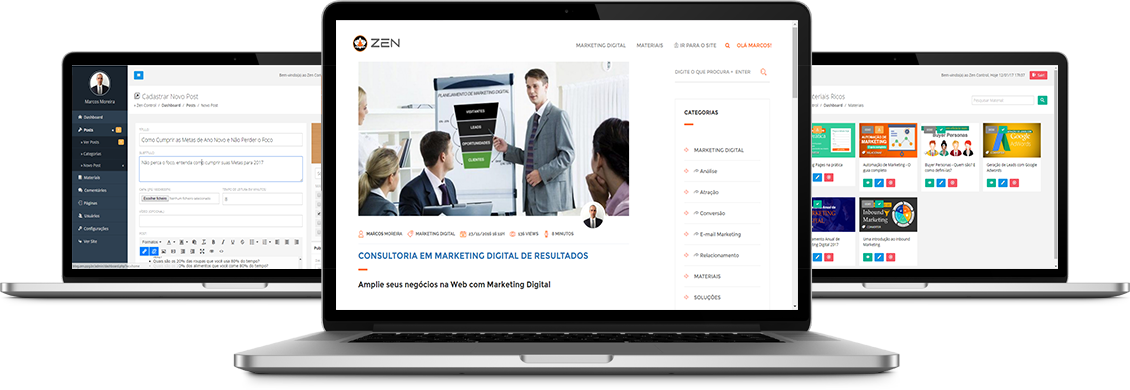 Desenvolvimento de sites responsivos e com gerenciador de conteúdo